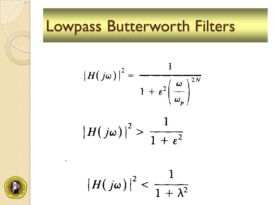 Lowpass Butterworth Filters