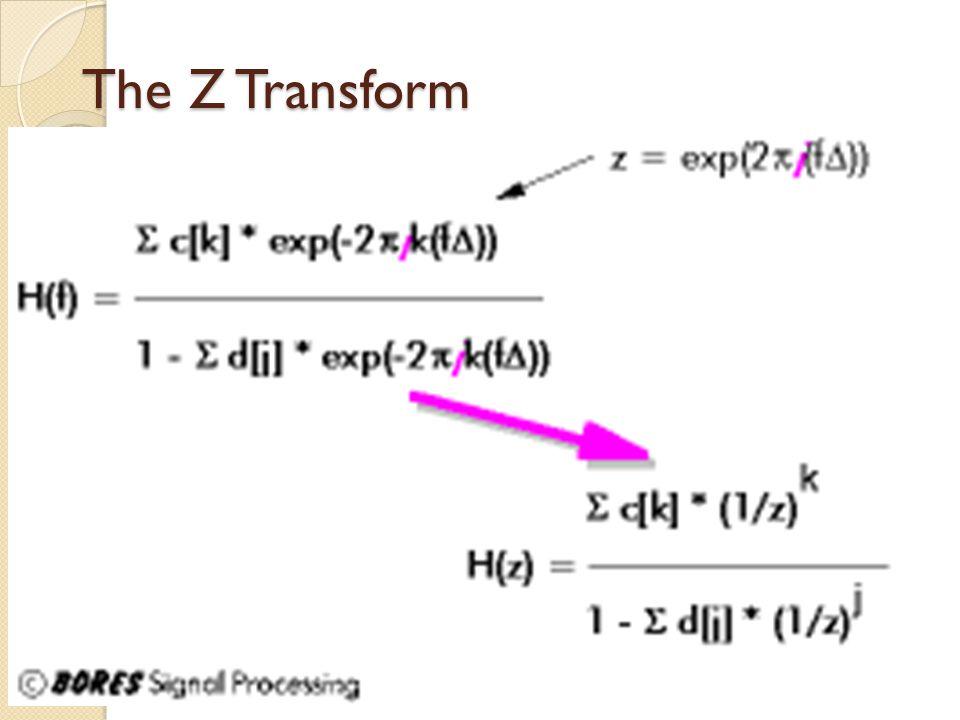 The Z Transform