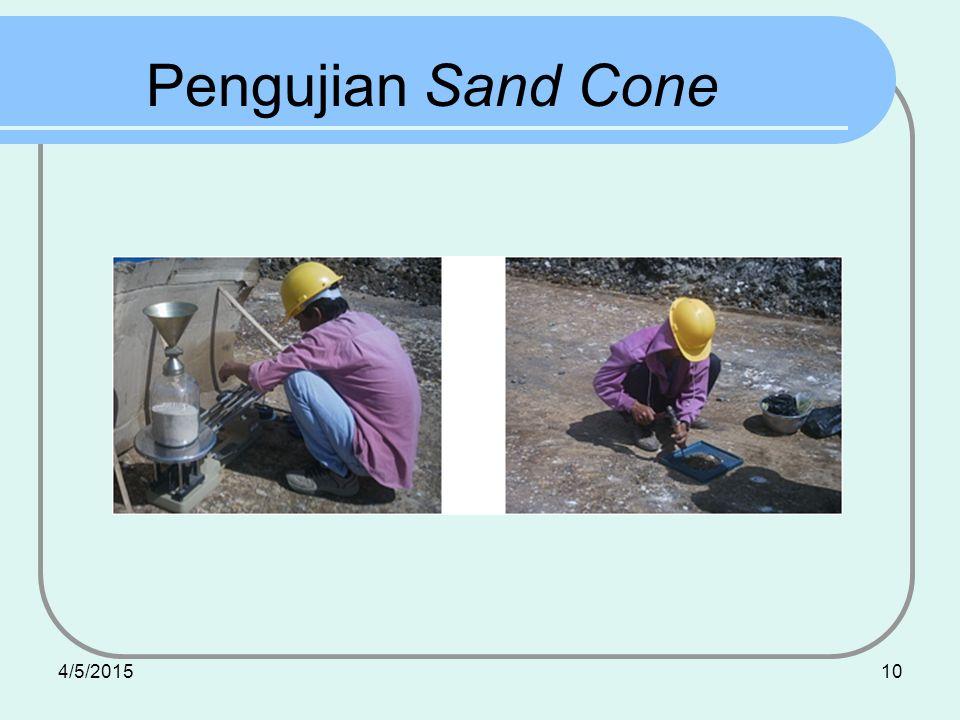 Pengujian Sand Cone 4/9/2017