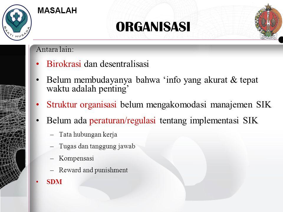 ORGANISASI Birokrasi dan desentralisasi