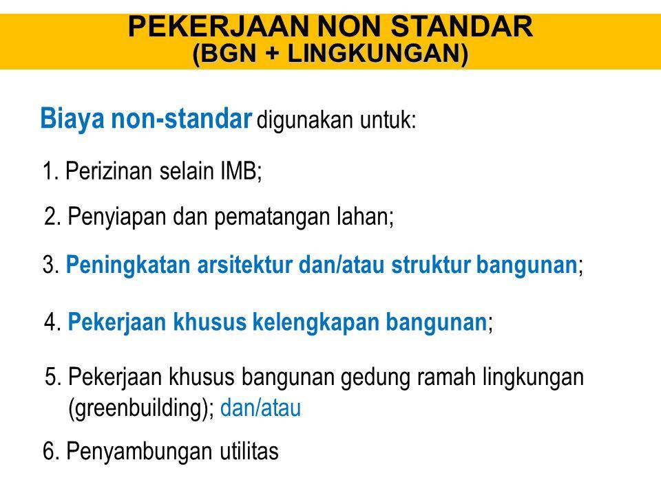 Biaya non-standar digunakan untuk: