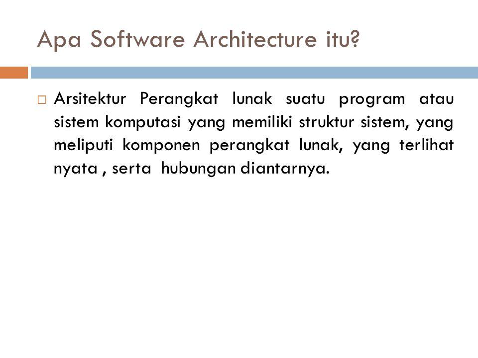 Apa Software Architecture itu