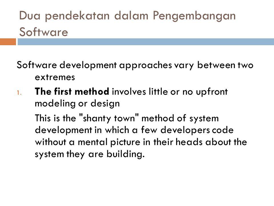 Dua pendekatan dalam Pengembangan Software