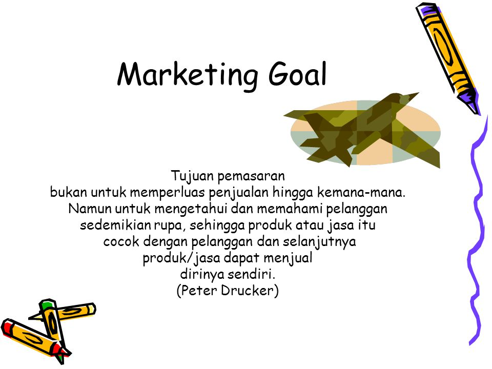 Marketing Goal Tujuan pemasaran