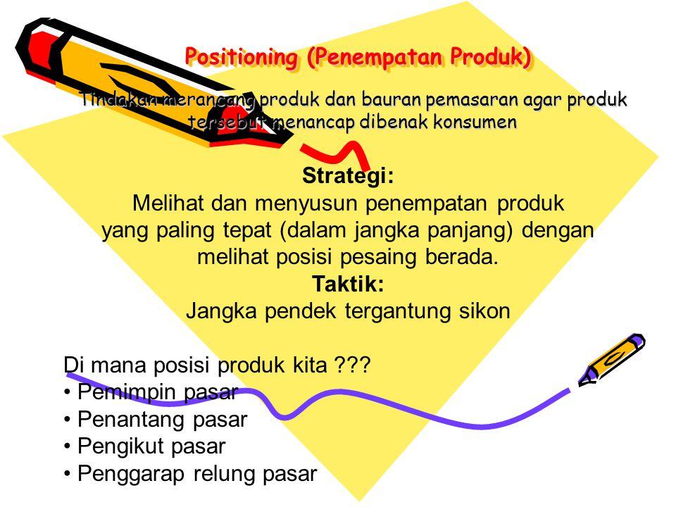 Positioning (Penempatan Produk)