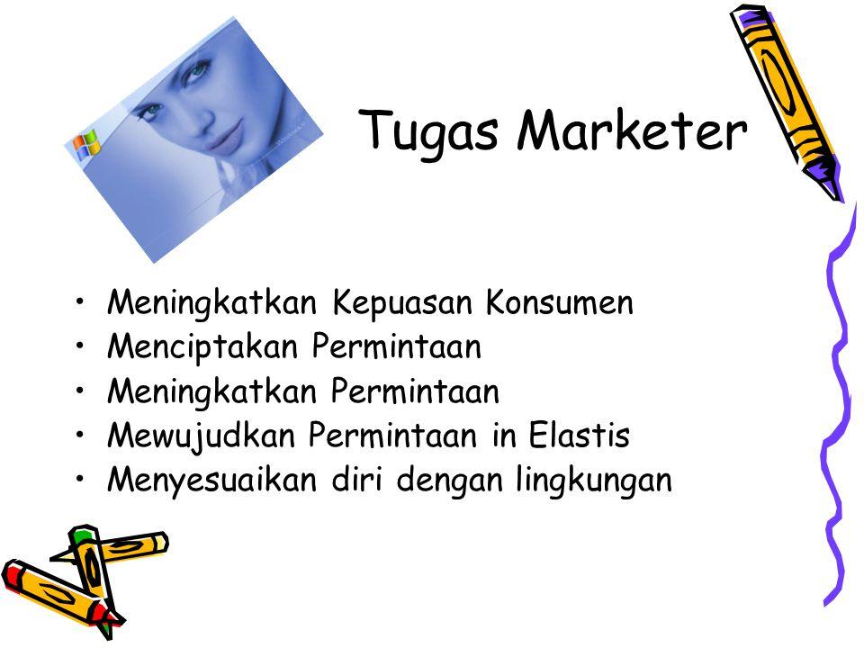 Tugas Marketer Meningkatkan Kepuasan Konsumen Menciptakan Permintaan
