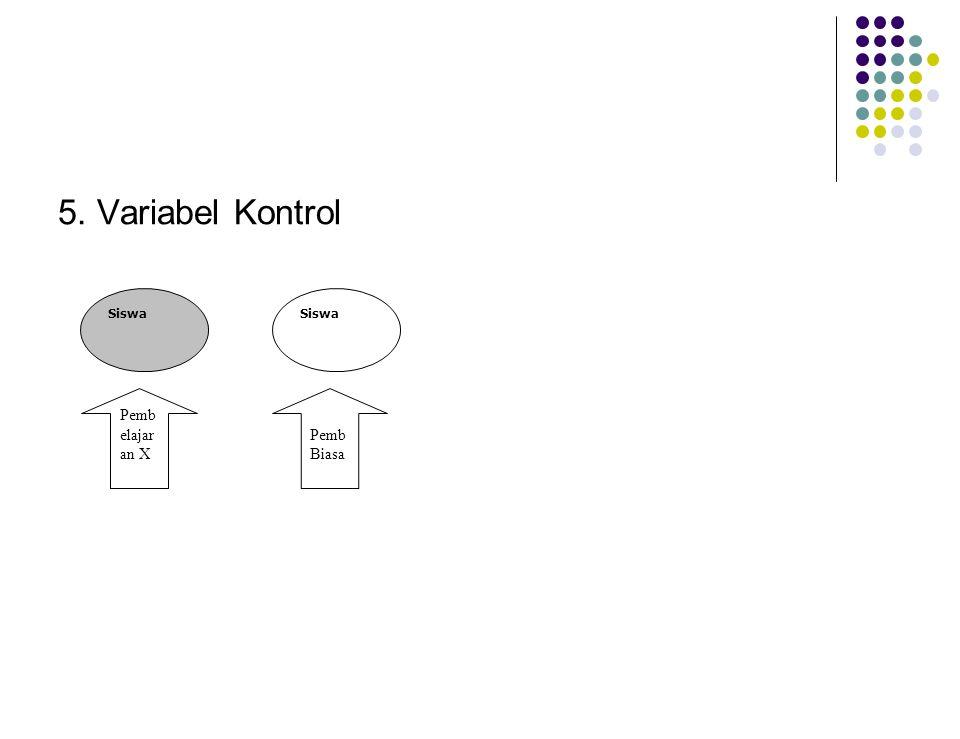 5. Variabel Kontrol Siswa Pembelajaran X Pemb Biasa
