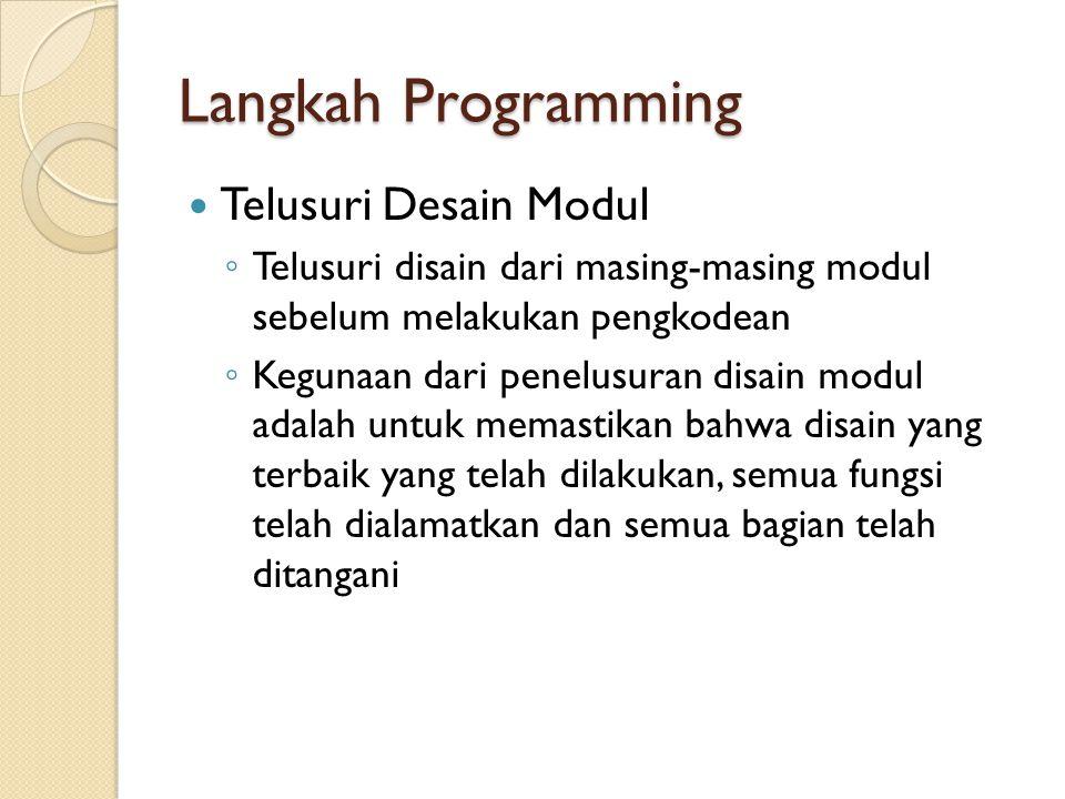 Langkah Programming Telusuri Desain Modul