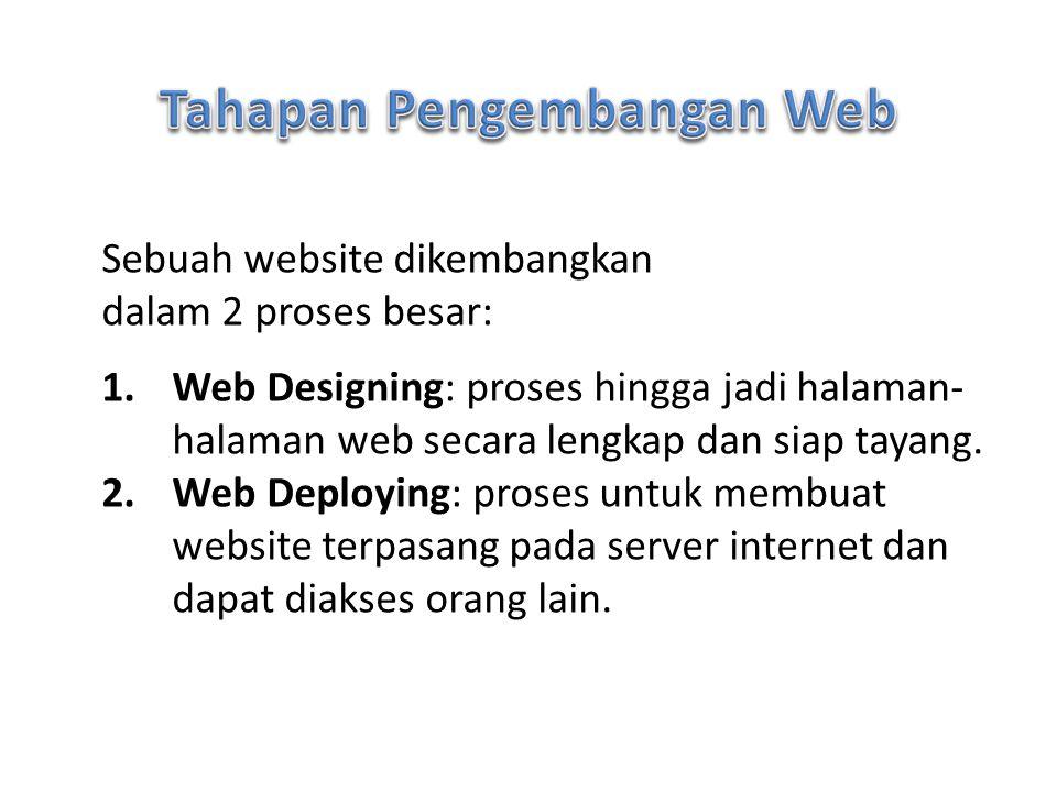Tahapan Pengembangan Web