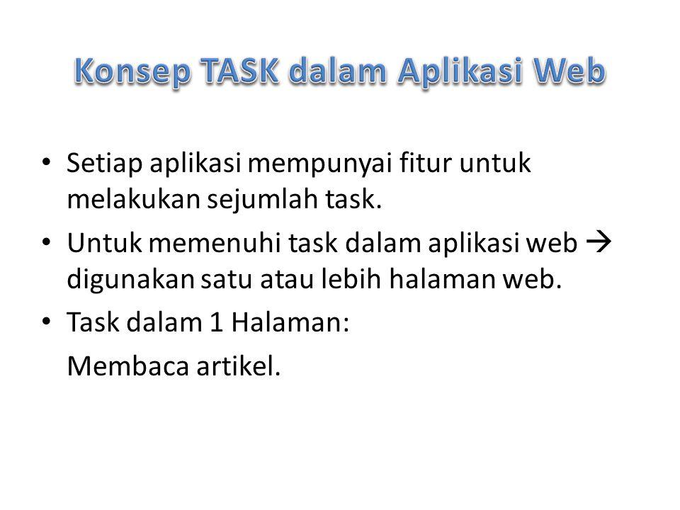 Konsep TASK dalam Aplikasi Web