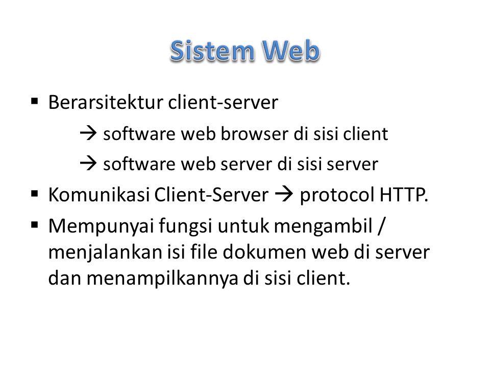Sistem Web Berarsitektur client-server