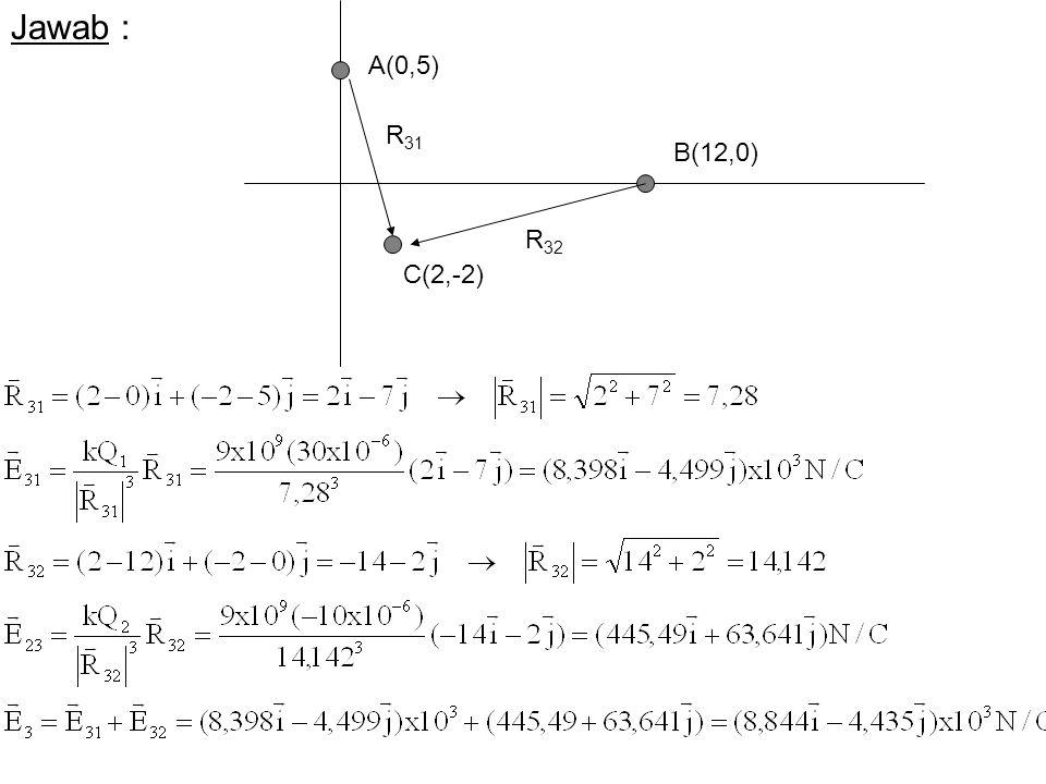Jawab : A(0,5) R31 B(12,0) R32 C(2,-2)