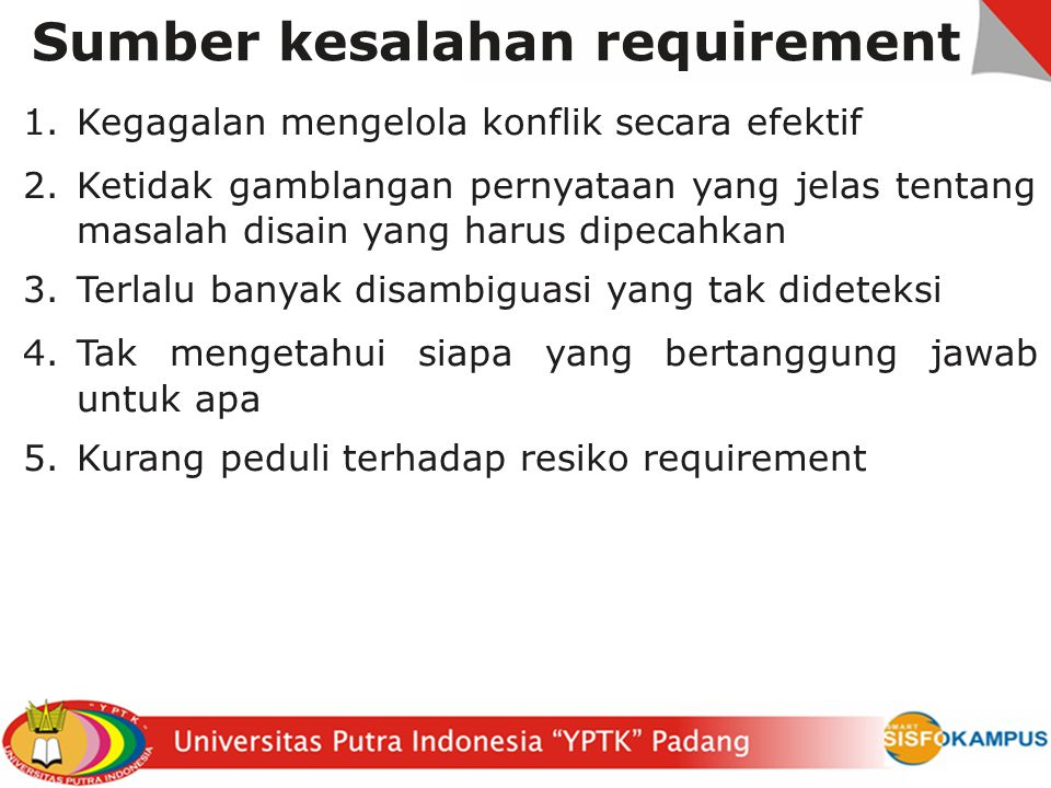 Sumber kesalahan requirement