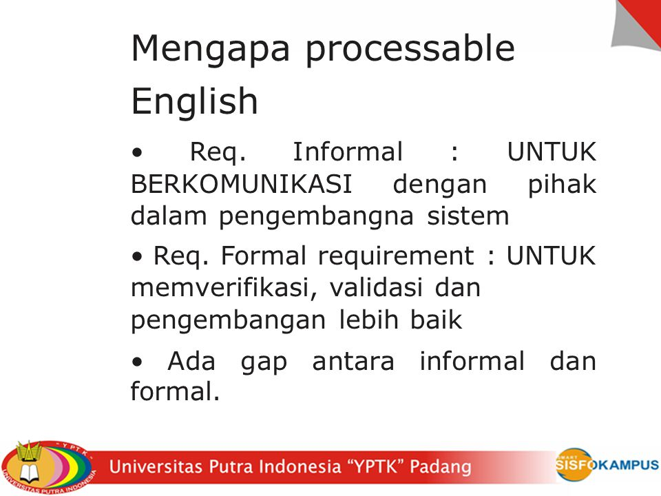 Mengapa processable English