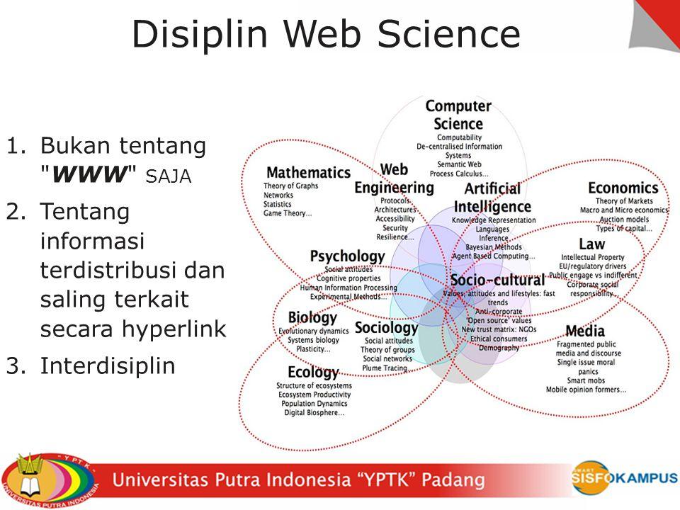 Disiplin Web Science Bukan tentang WWW saja