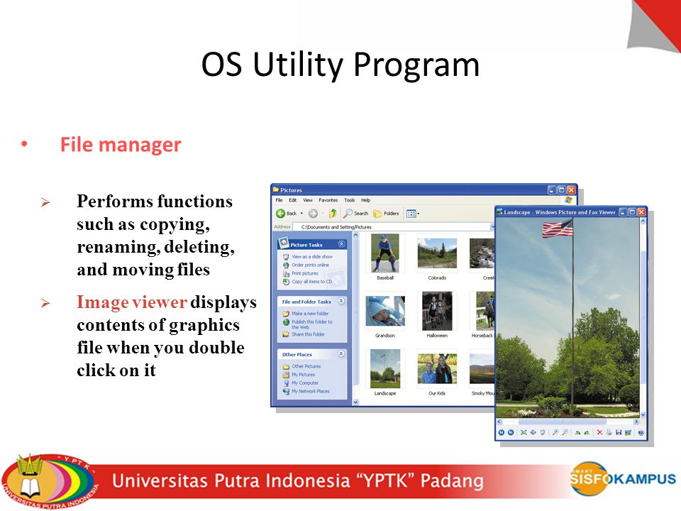 OS Utility Program File manager