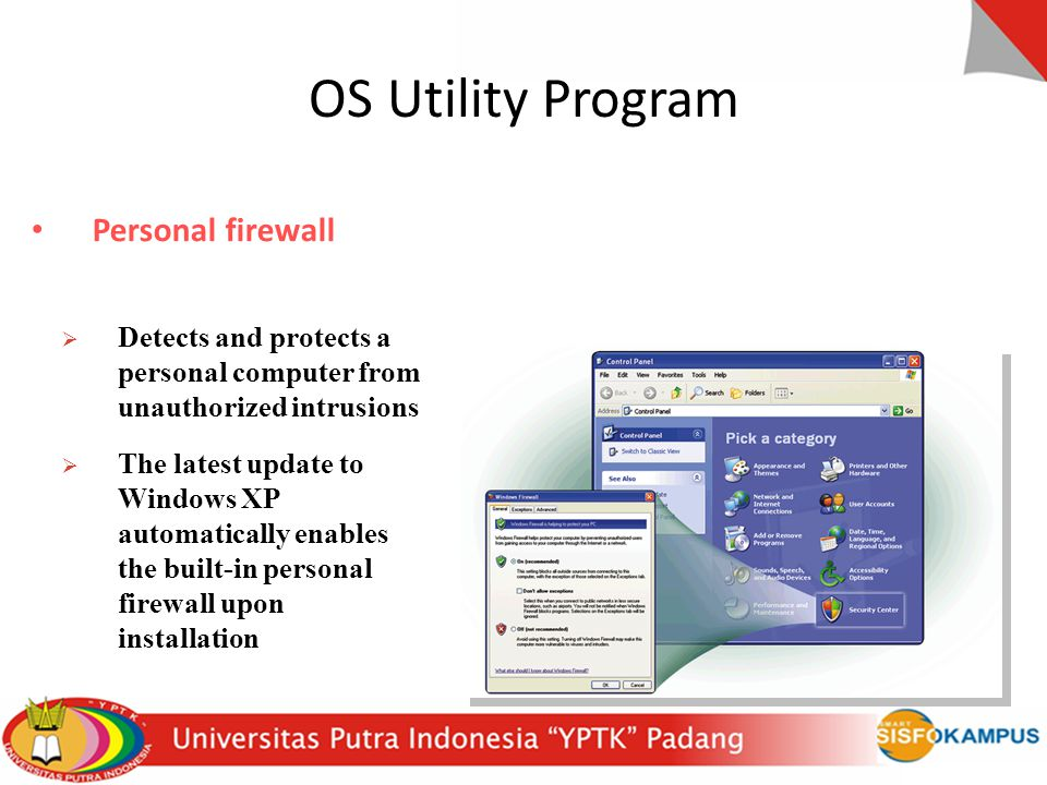 OS Utility Program Personal firewall