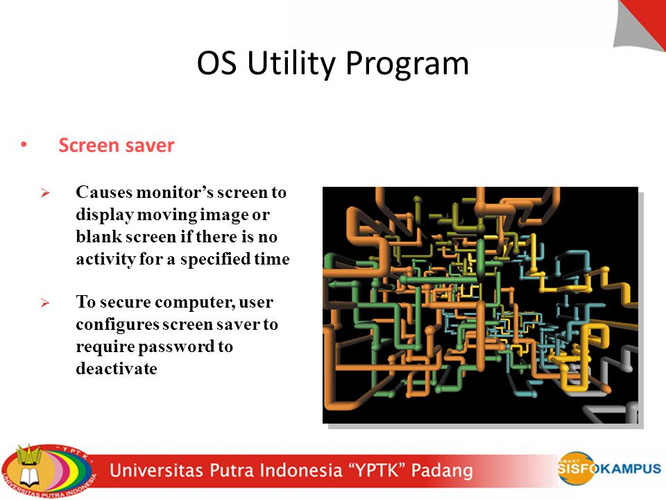 OS Utility Program Screen saver