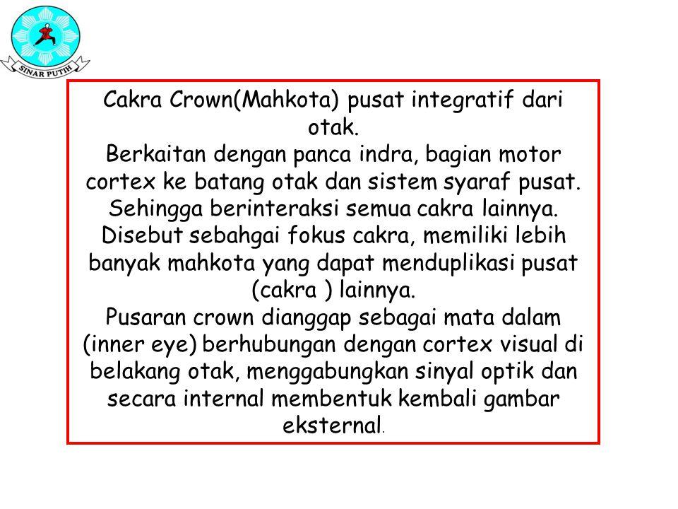 Cakra Crown(Mahkota) pusat integratif dari otak.