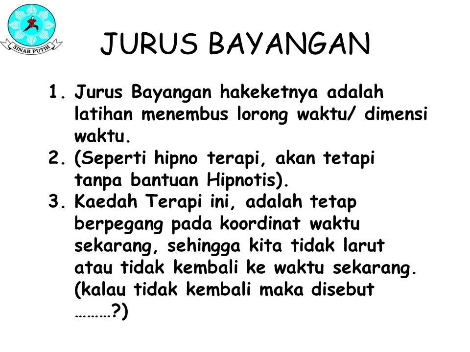 JURUS BAYANGAN Jurus Bayangan hakeketnya adalah latihan menembus lorong waktu/ dimensi waktu.