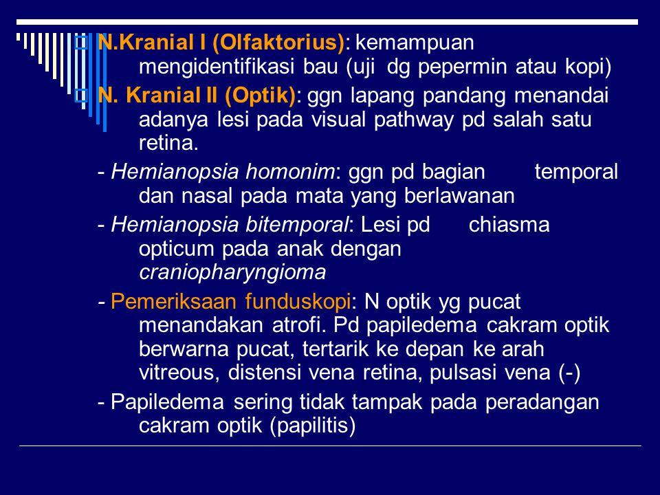 N. Kranial I (Olfaktorius): kemampuan