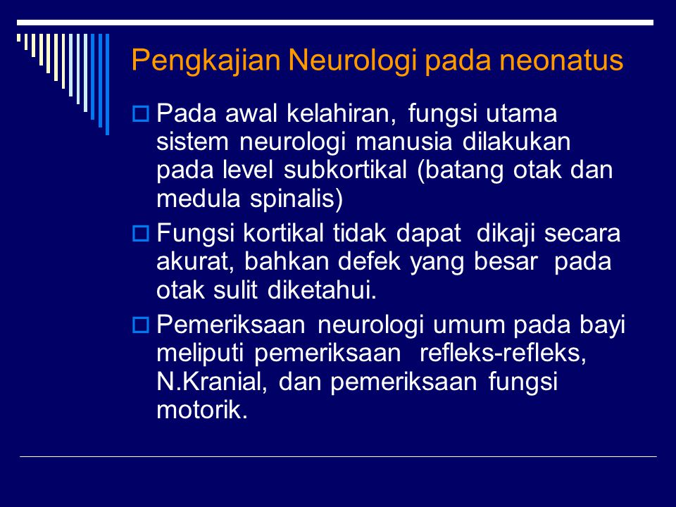 Pengkajian Neurologi pada neonatus