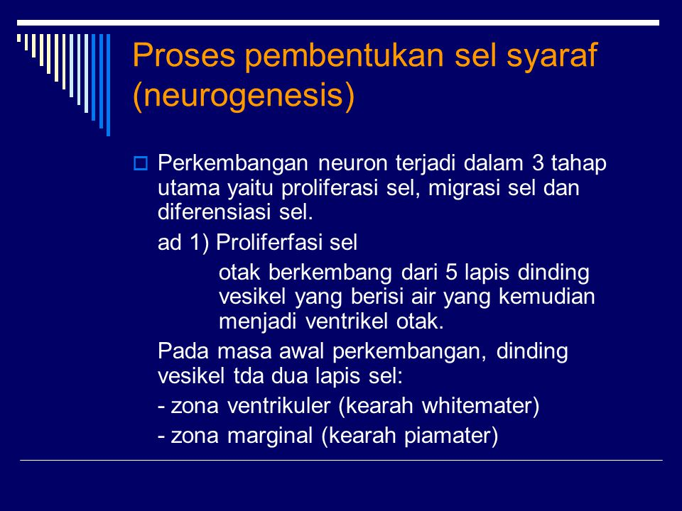 Proses pembentukan sel syaraf (neurogenesis)