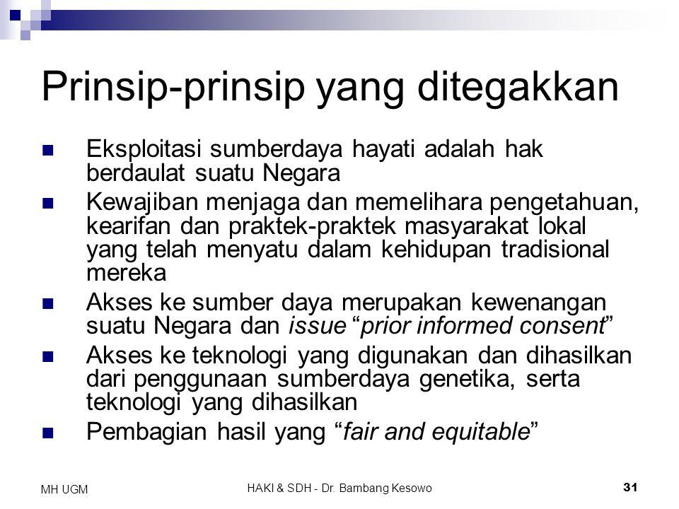 Prinsip-prinsip yang ditegakkan