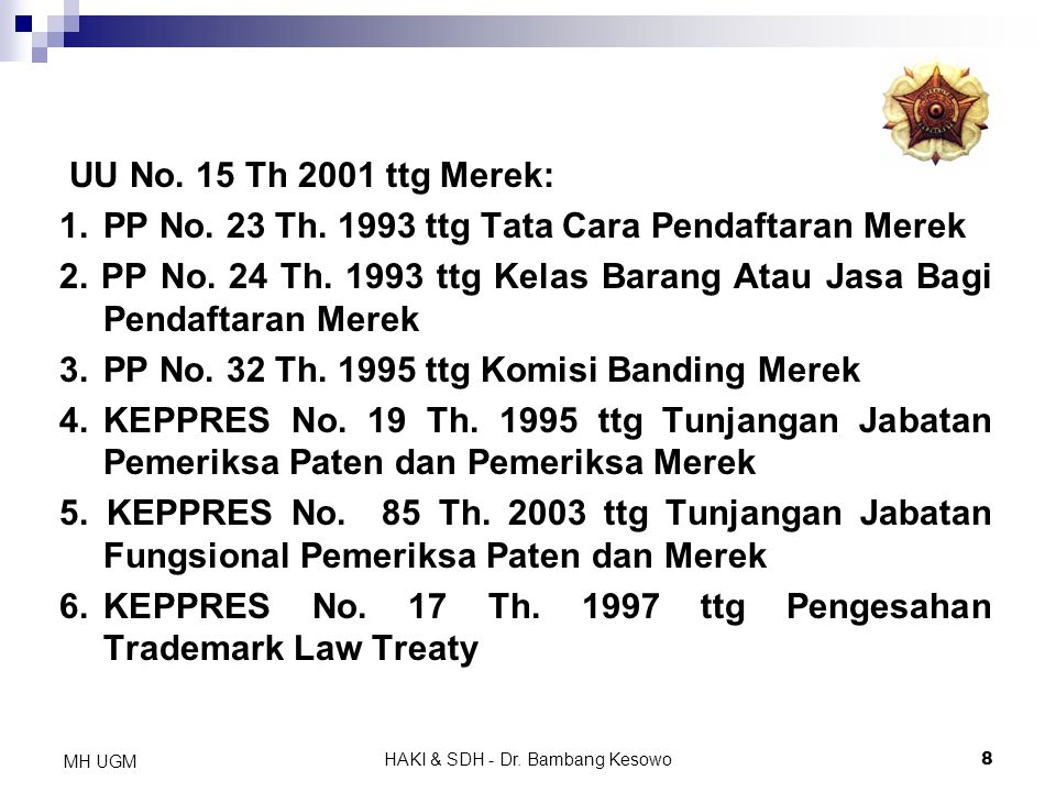 HAKI & SDH - Dr. Bambang Kesowo