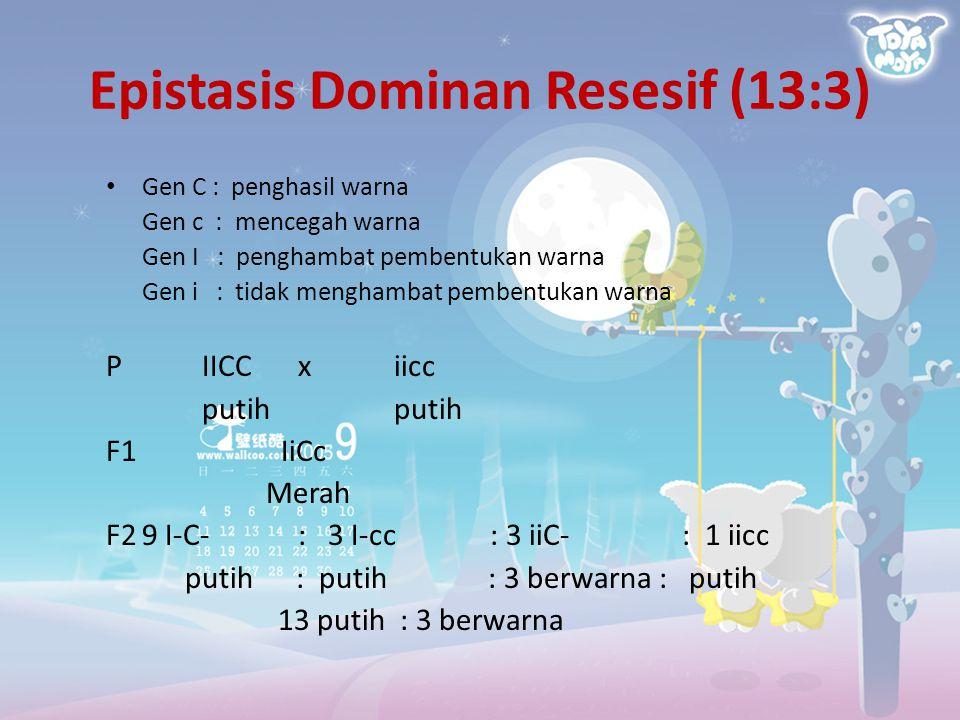 Epistasis Dominan Resesif (13:3)