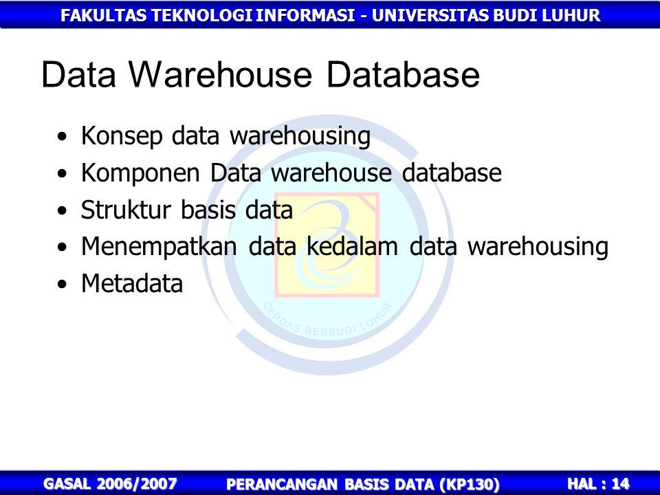 Data Warehouse Database