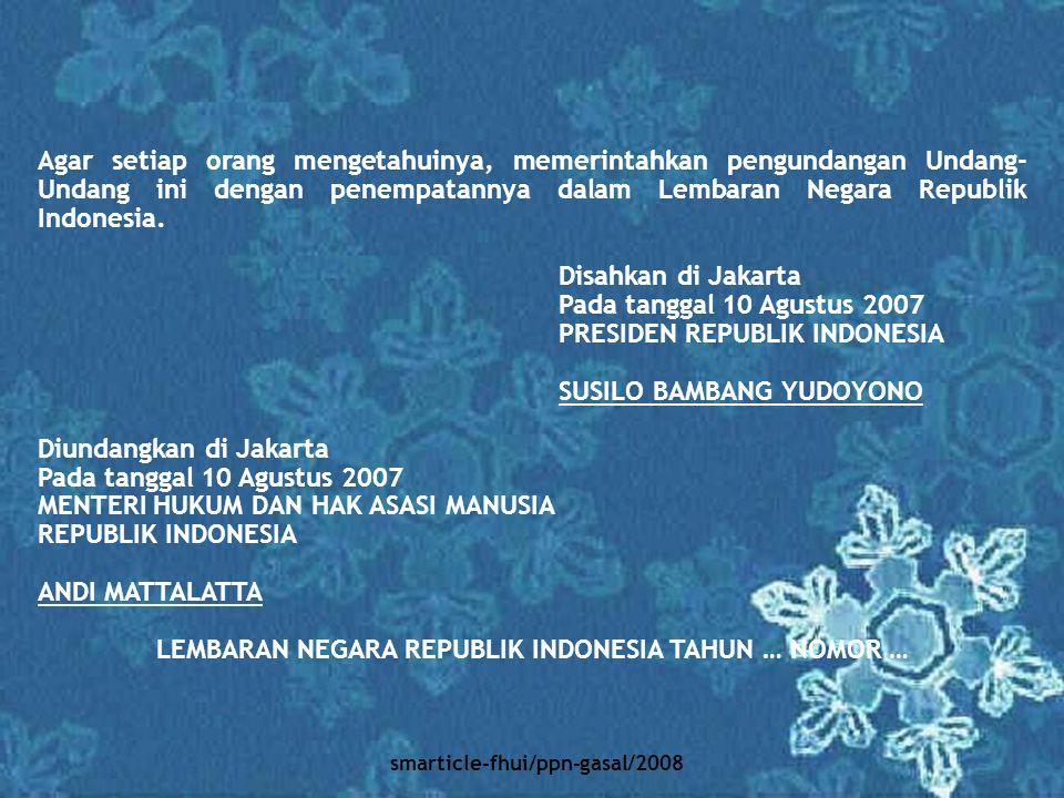 LEMBARAN NEGARA REPUBLIK INDONESIA TAHUN … NOMOR …