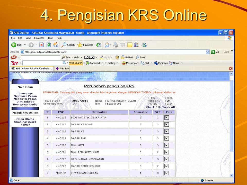 4. Pengisian KRS Online