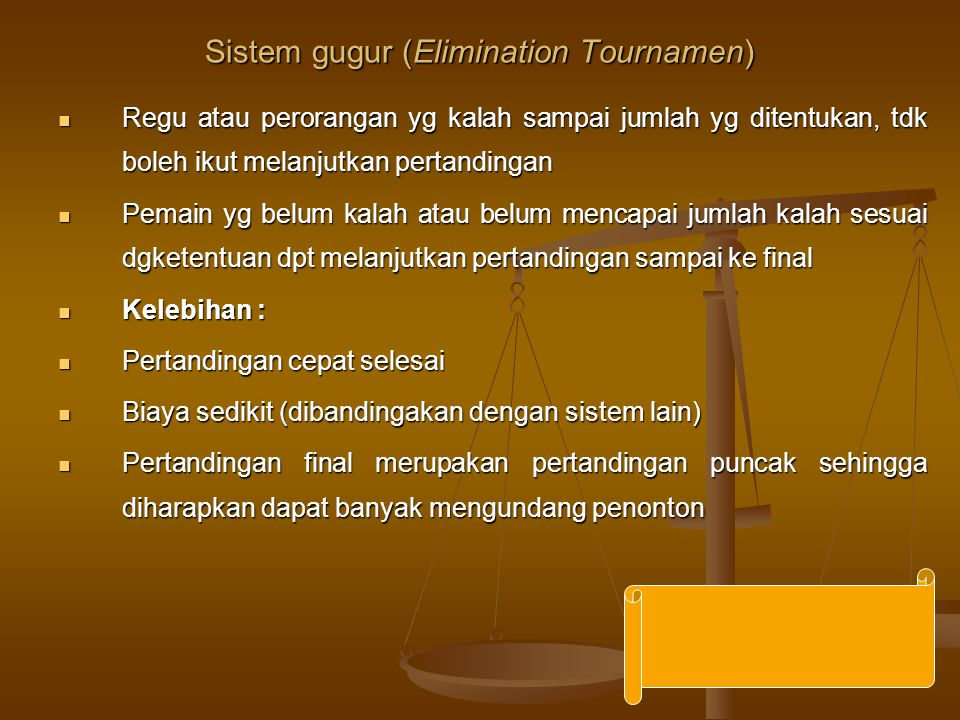 Sistem gugur (Elimination Tournamen)