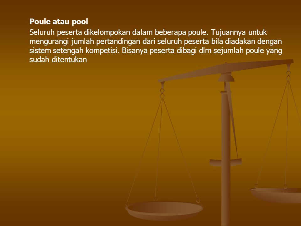 Poule atau pool