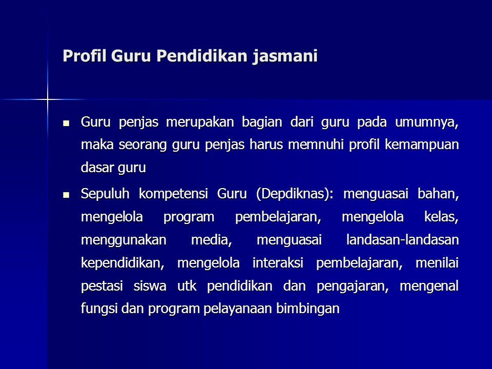 Profil Guru Pendidikan jasmani