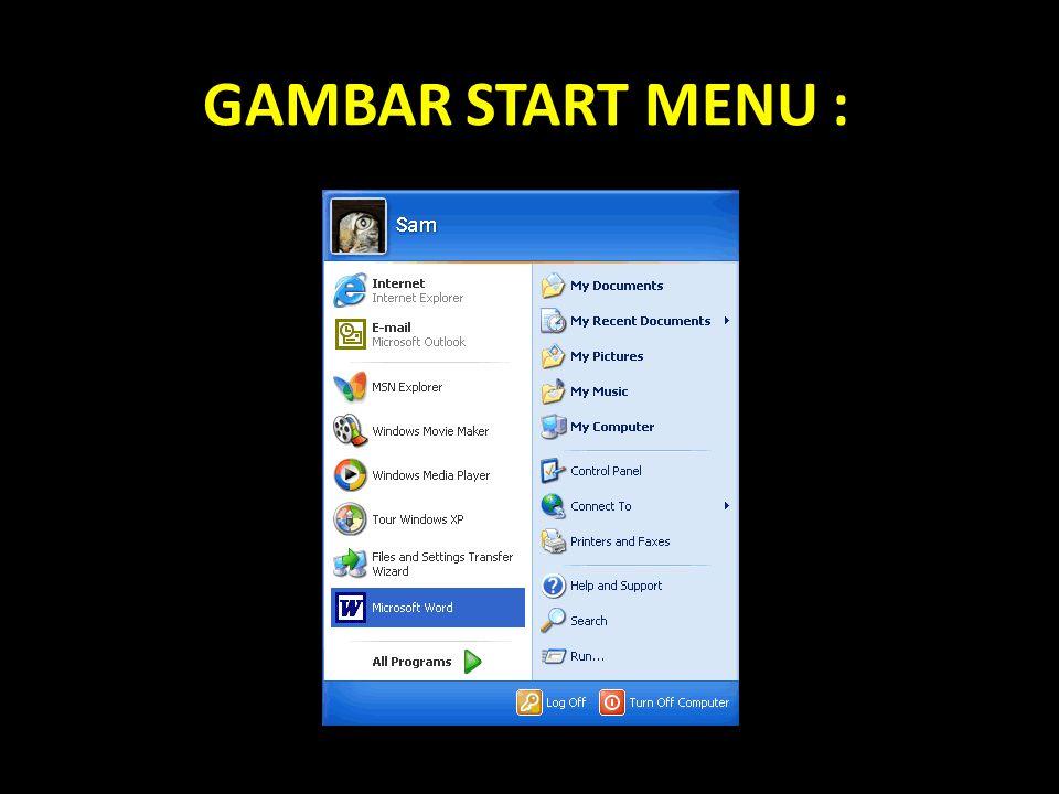 GAMBAR START MENU :