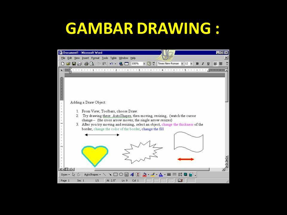 GAMBAR DRAWING :