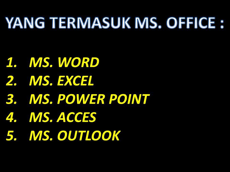 YANG TERMASUK MS. OFFICE :