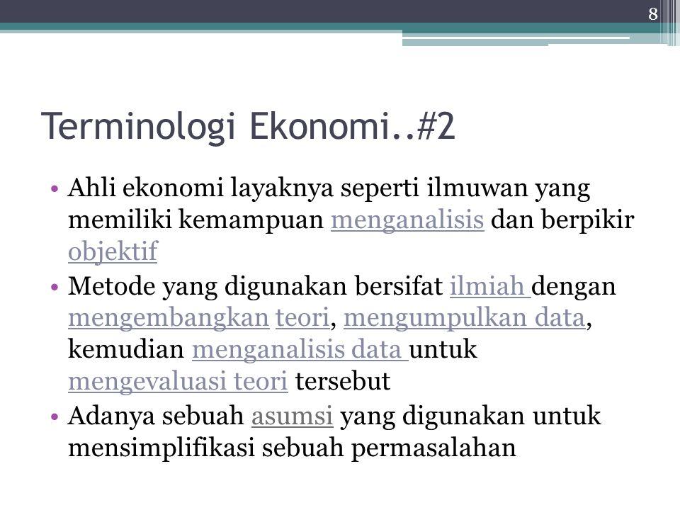 Terminologi Ekonomi..#2 Ahli ekonomi layaknya seperti ilmuwan yang memiliki kemampuan menganalisis dan berpikir objektif.