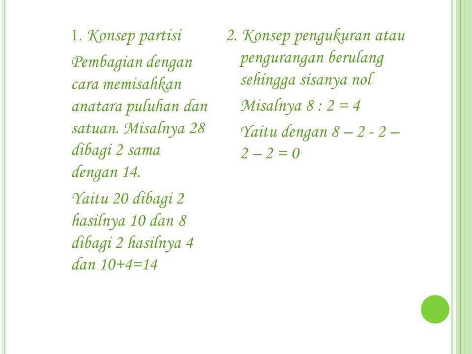 Yaitu 20 dibagi 2 hasilnya 10 dan 8 dibagi 2 hasilnya 4 dan 10+4=14