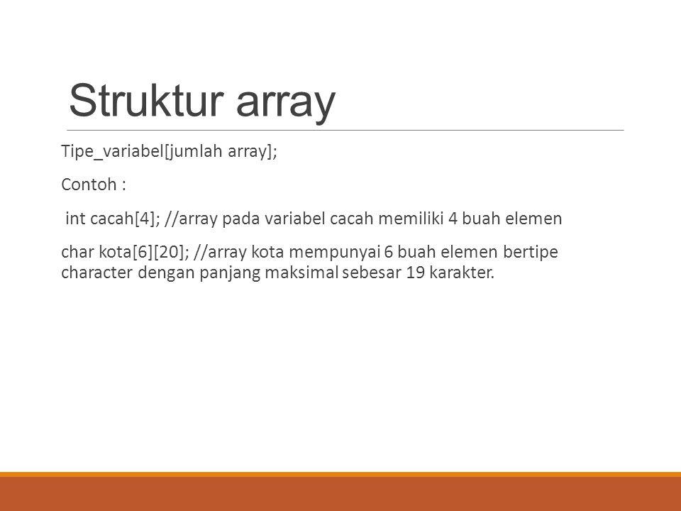 Struktur array