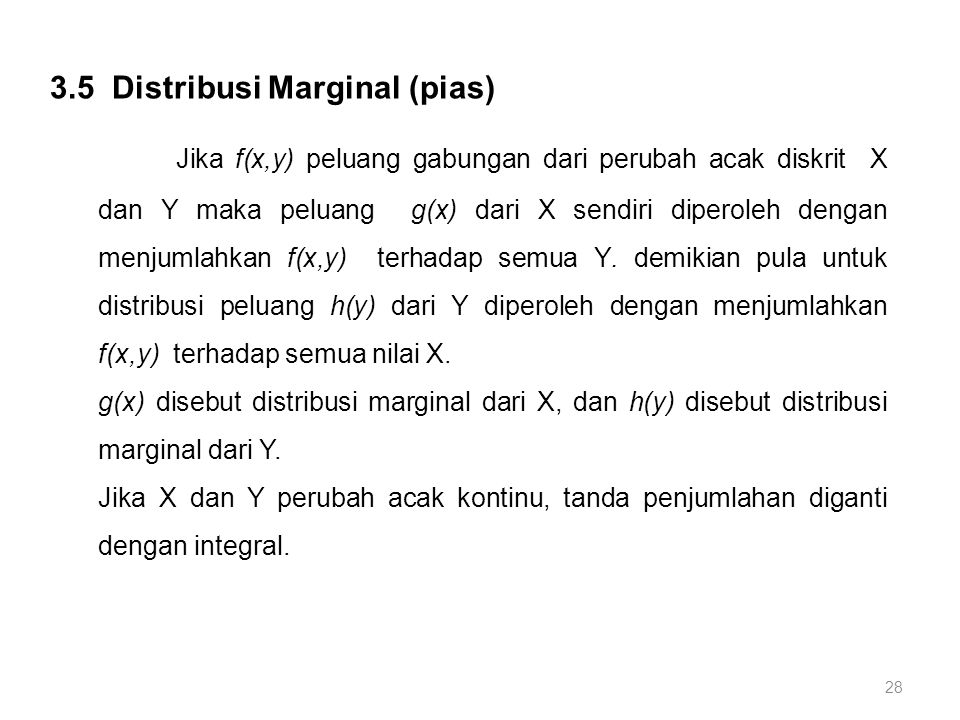 3.5 Distribusi Marginal (pias)