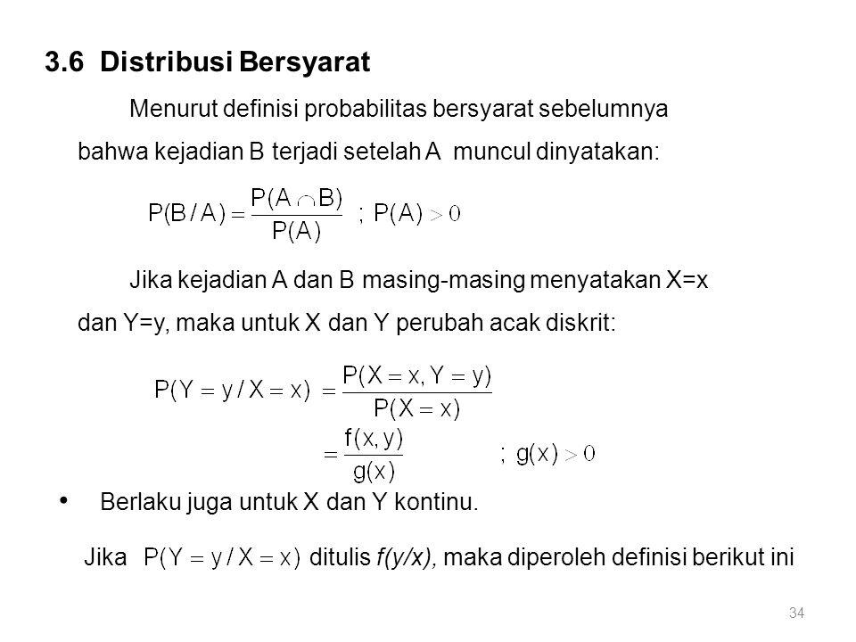 Berlaku juga untuk X dan Y kontinu.
