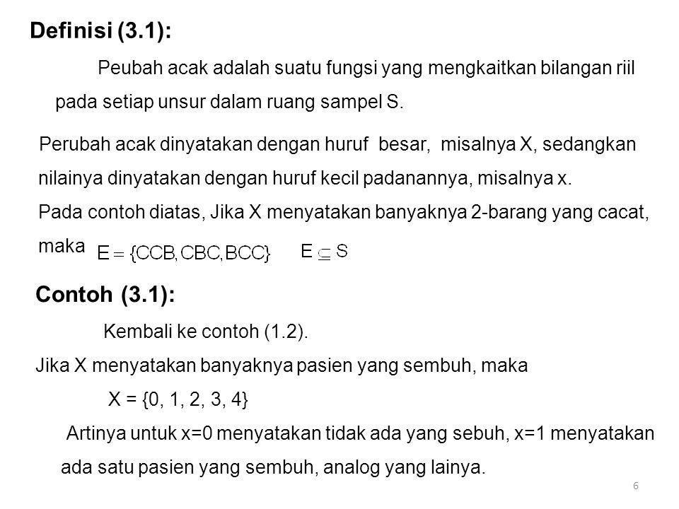 Definisi (3.1): Contoh (3.1):