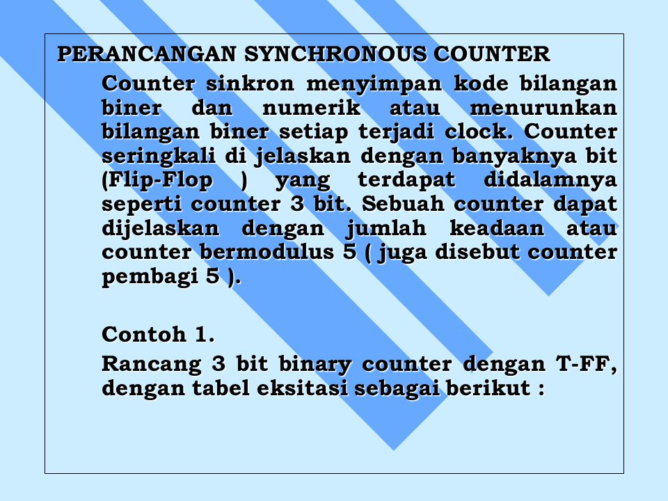 PERANCANGAN SYNCHRONOUS COUNTER
