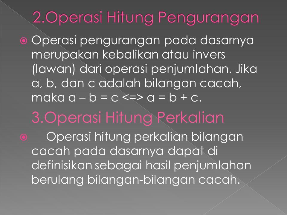 2.Operasi Hitung Pengurangan