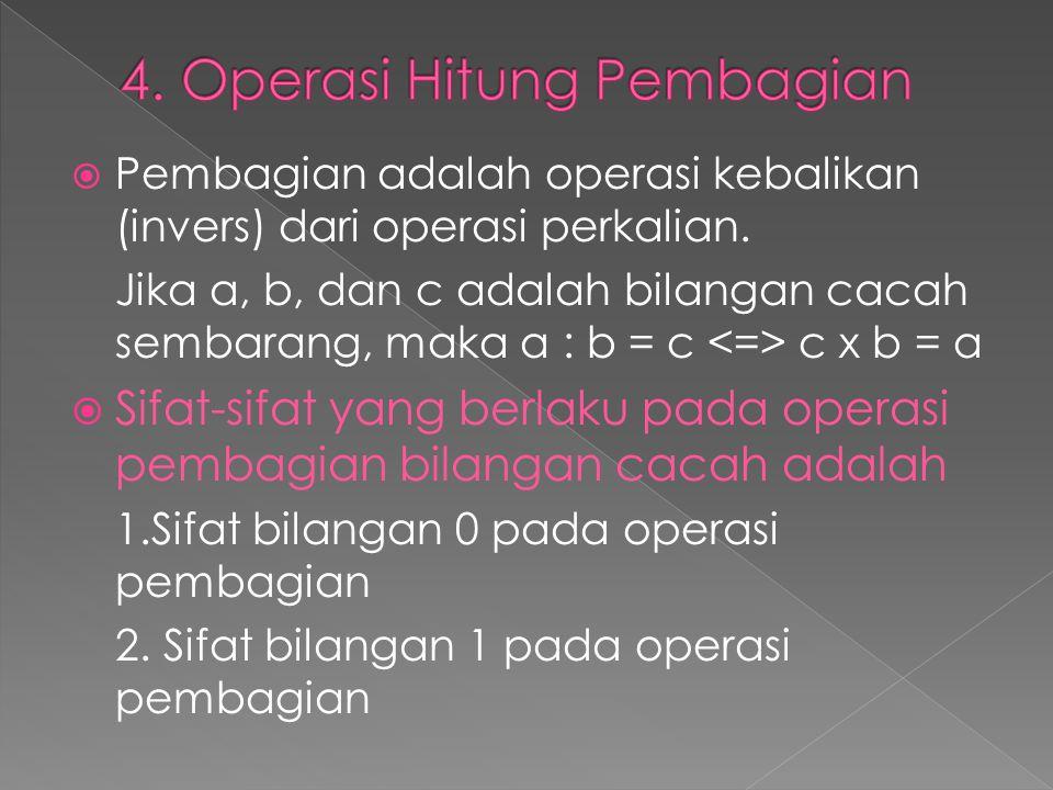 4. Operasi Hitung Pembagian