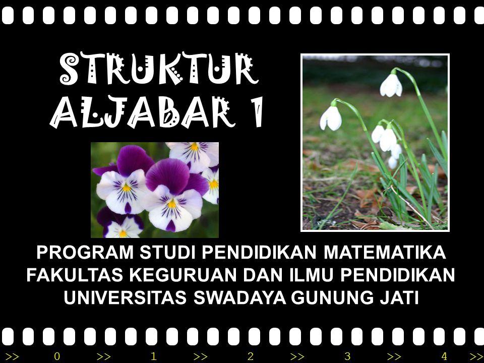 STRUKTUR ALJABAR 1 PROGRAM STUDI PENDIDIKAN MATEMATIKA