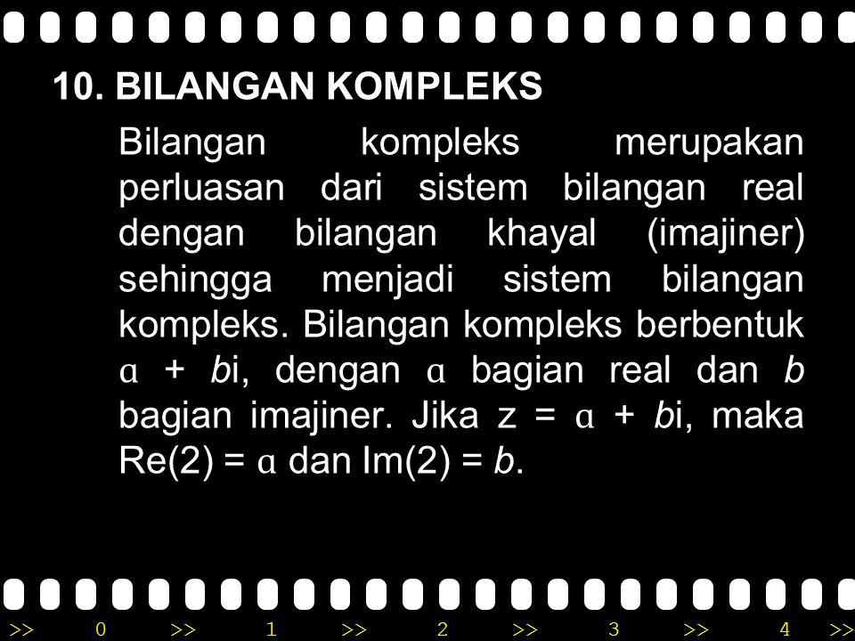10. BILANGAN KOMPLEKS